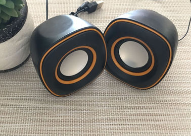 China Black Multimedia Wired USB Powered Speakers Stereo Surround 5W 90Hz - 20KHz distributor