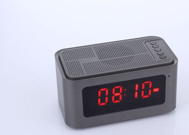 China OEM Mini Bluetooth Speaker Alarm Clock Dustproof With FM Radio TF Card distributor