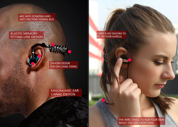 Mini USB Stereo Neckband Wireless Bluetooth Headset Support Format MP3 WMA WAV for sports and fitness
